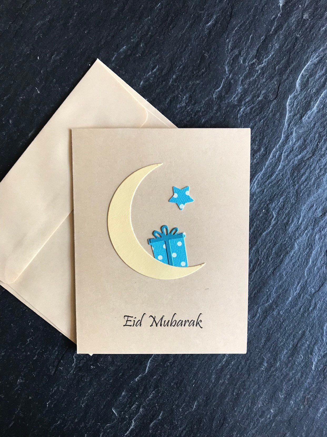 Eid Mubarak Card Ramadan Gift Eid Gift Handmade Greeting Card