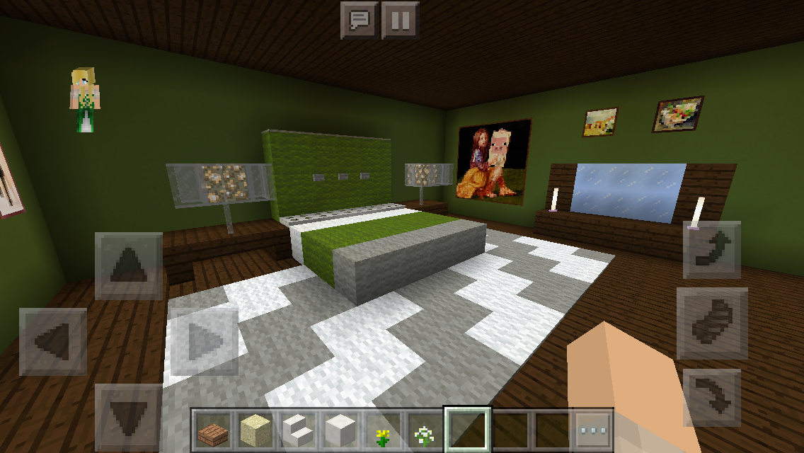 Modern House Master Bedroom Minecraft Interior Design Architecture Houses Modern Masterbedroom Modern House Rustic Living Minecraft Houses Survival