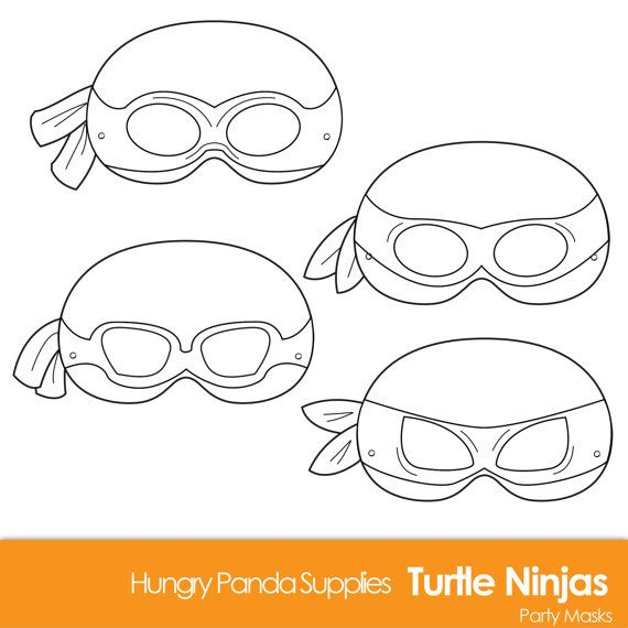 Turtle Printable Coloring Masks, Turtle Mask, Turtles, Ninjas