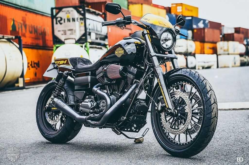 Tb 1 Custom Harley Davidson Dyna Low Rider S 2017 By Thunderbike Customs Pro Taper Handlebars Hyperpro Harley Dyna Harley Davidson Dyna Harley Davidson Bikes