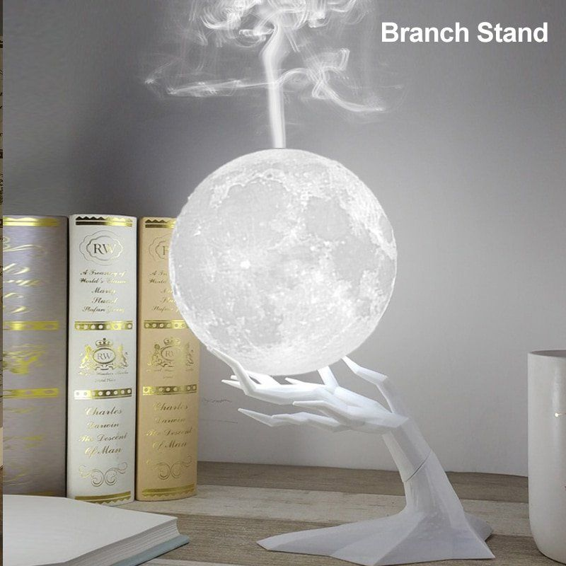 Luna Mist Air Humidifier Moon Lamp Essential Oil Diffuser Lively Focus In 2020 Humidifier Essential Oils Essential Oil Diffuser Led Night Lamp