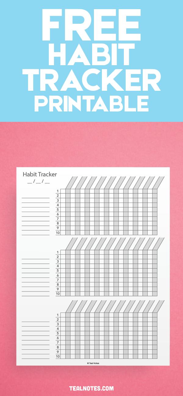 Free Printable Habit Tracker Pdf The Ultimate Habit Tracker Guide Habit Tracker Printable Habit Tracker Bullet Journal Habit Tracker