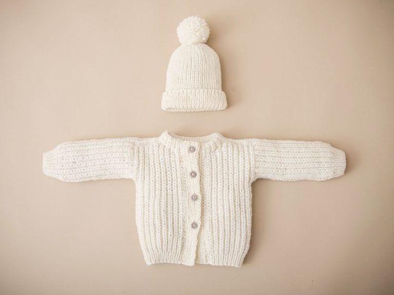 Kits zum Stricken | Etsy DE | Baby jacke, Babyjacke stricken