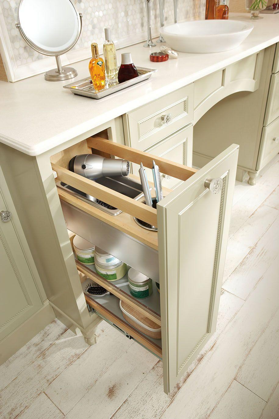 Merillat Masterpiece Base Vanity Pantry Pull Out Clever Bathroom Storage Kitchen Cabinet Accessories Bathroom Storage [ 1373 x 915 Pixel ]
