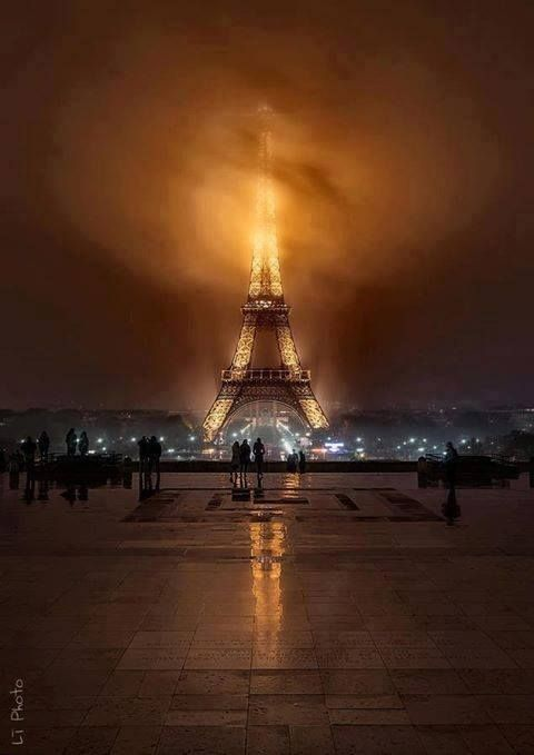 city of love on one of its stormy nights!  Paris, France