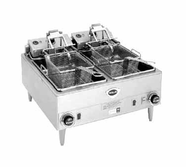 Wells Fryer 15 Lb Cap F 68 Wells Fryer 15 Lb Cap F 68 Fryer Counter Unit Electric Dual Fry Pot With Aut Adjustable Legs Electric Fryer Deep Fryers