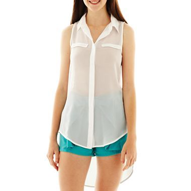 L'Amour Nanette Lepore High-Low Blouse - JCPenney