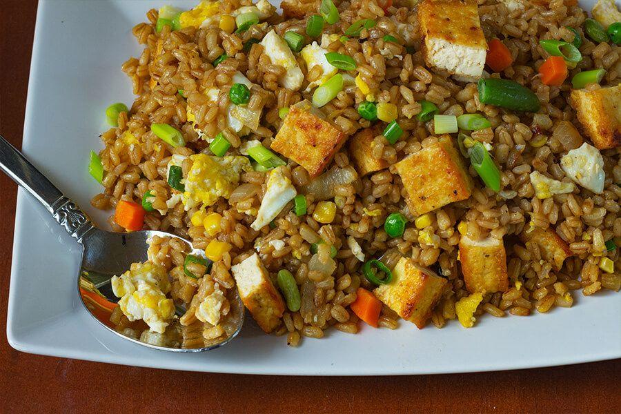 Easy tofu barley fried rice cooking maniac recipe