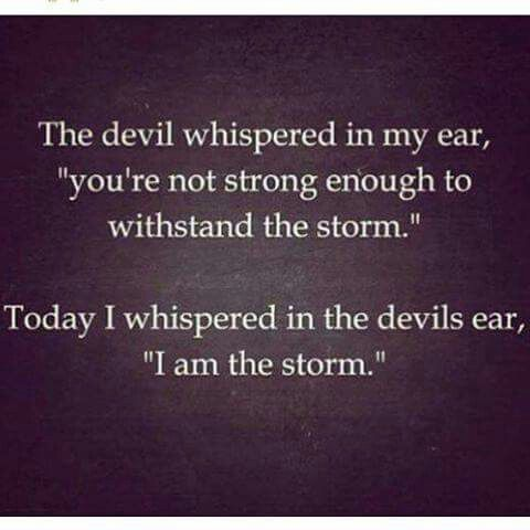 "Quotes For Strong Women Prepossessing The Devil Whispered In My Ear  "" You're Not Strong Enough To . Inspiration"