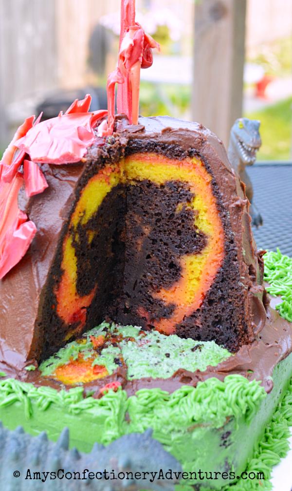 How Do U Make A Volcano Cake