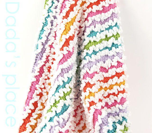 Dada\'s place: Rainbow Ruffle Baby Blanket | Crochet | Pinterest