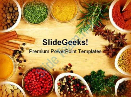 Spices Food Powerpoint Templates And Powerpoint Backgrounds