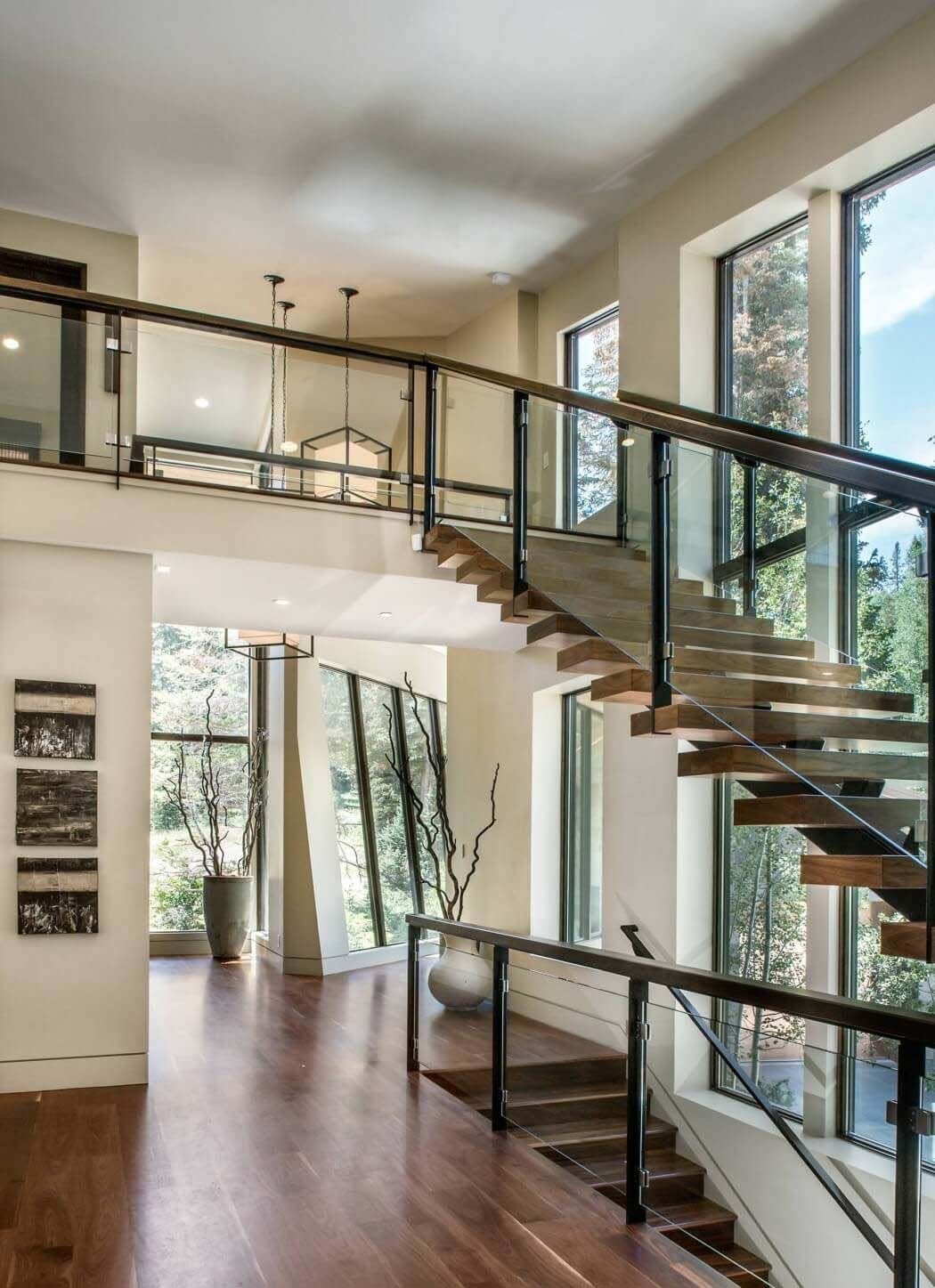 Spectacular modern mountain home in Park City  Utah   Foyers and     This remarkable modern mountain home was designed by Upwall Design along  with LMK Interior Design in The Colony at White Pine Canyon in Park City   Utah