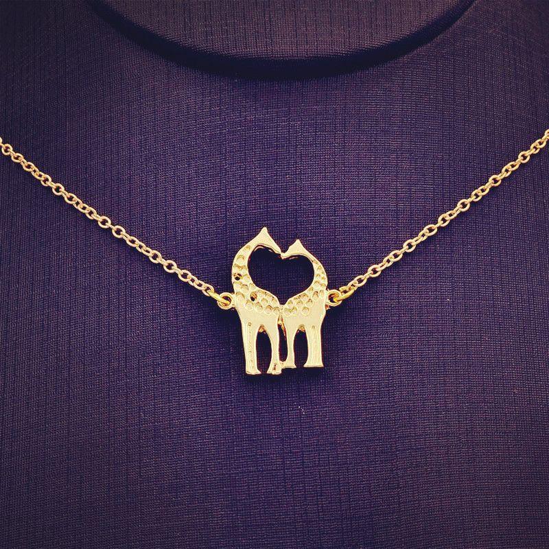 Neue modeschmuck kette link Giraffe anhänger halskette für frauen mädchen schönes geschenk N1731