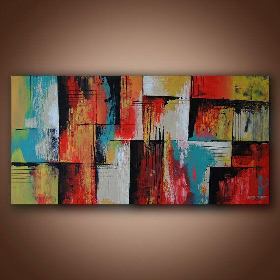 Abstrakte Malerei Original-abstrakte Malerei von ValeriTsvetkov