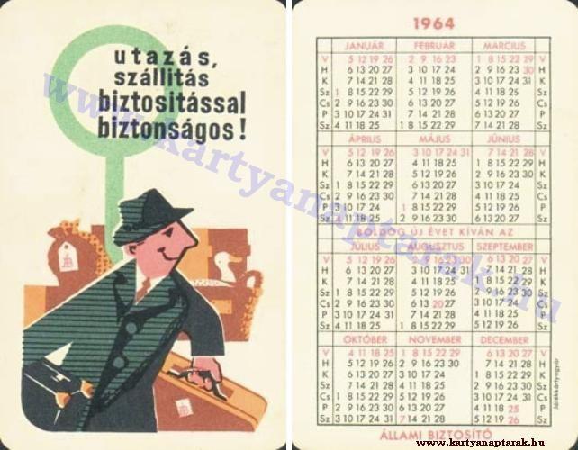 1964 - 1964_0014 - Régi magyar kártyanaptárak