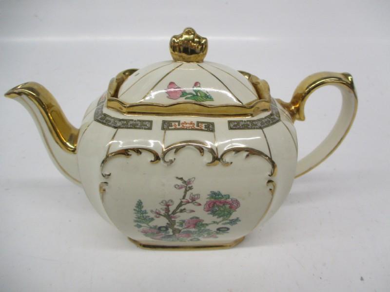 Sadler Made In England Gold Toned China Teapot Tea Pots Teapots And Cups Tea Cups