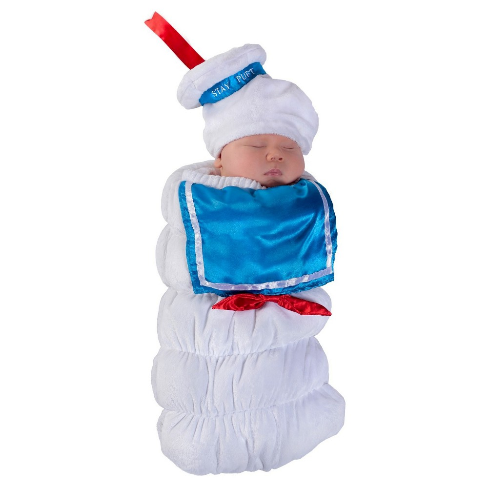 halloween ghostbusters stay puft swaddle costume - 0-3 months
