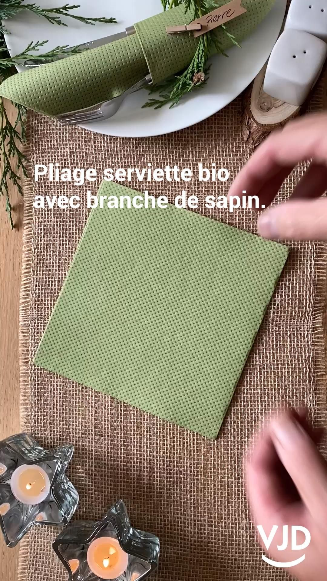 Photo of Folding napkin for the holidays.