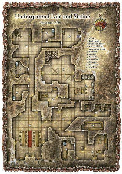 Underground Lair | D & D in 2019 | Map creator, Dungeon maps