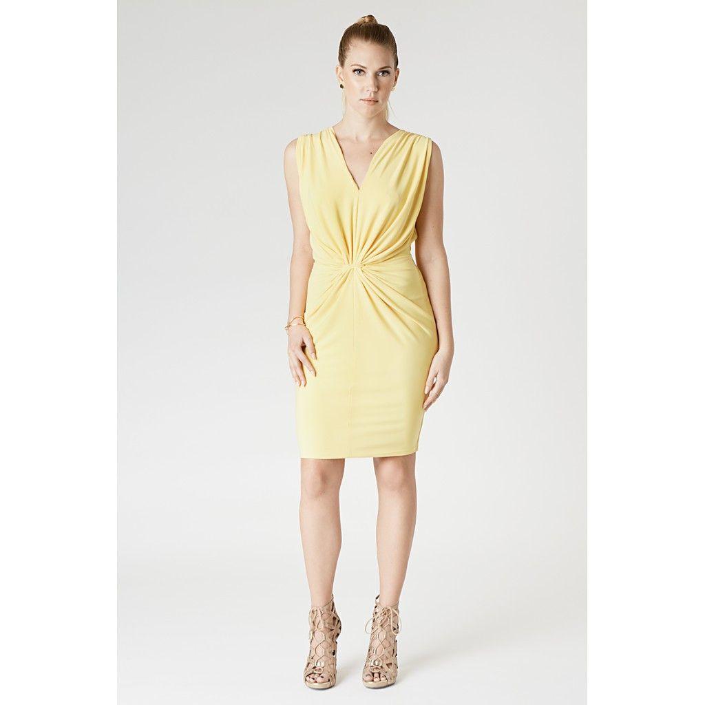 Draping dress pinterest yellow