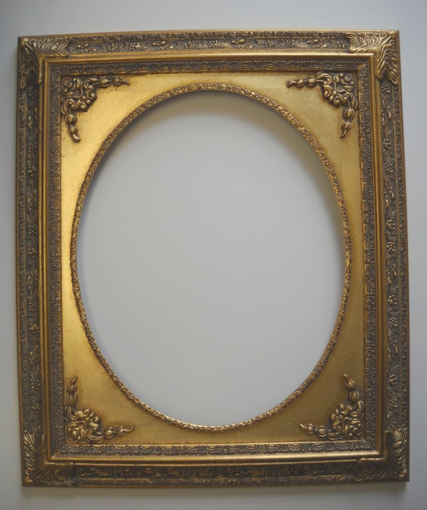 Picture Frame Gold Ornate Oval Opening 16x20 2212 Frames