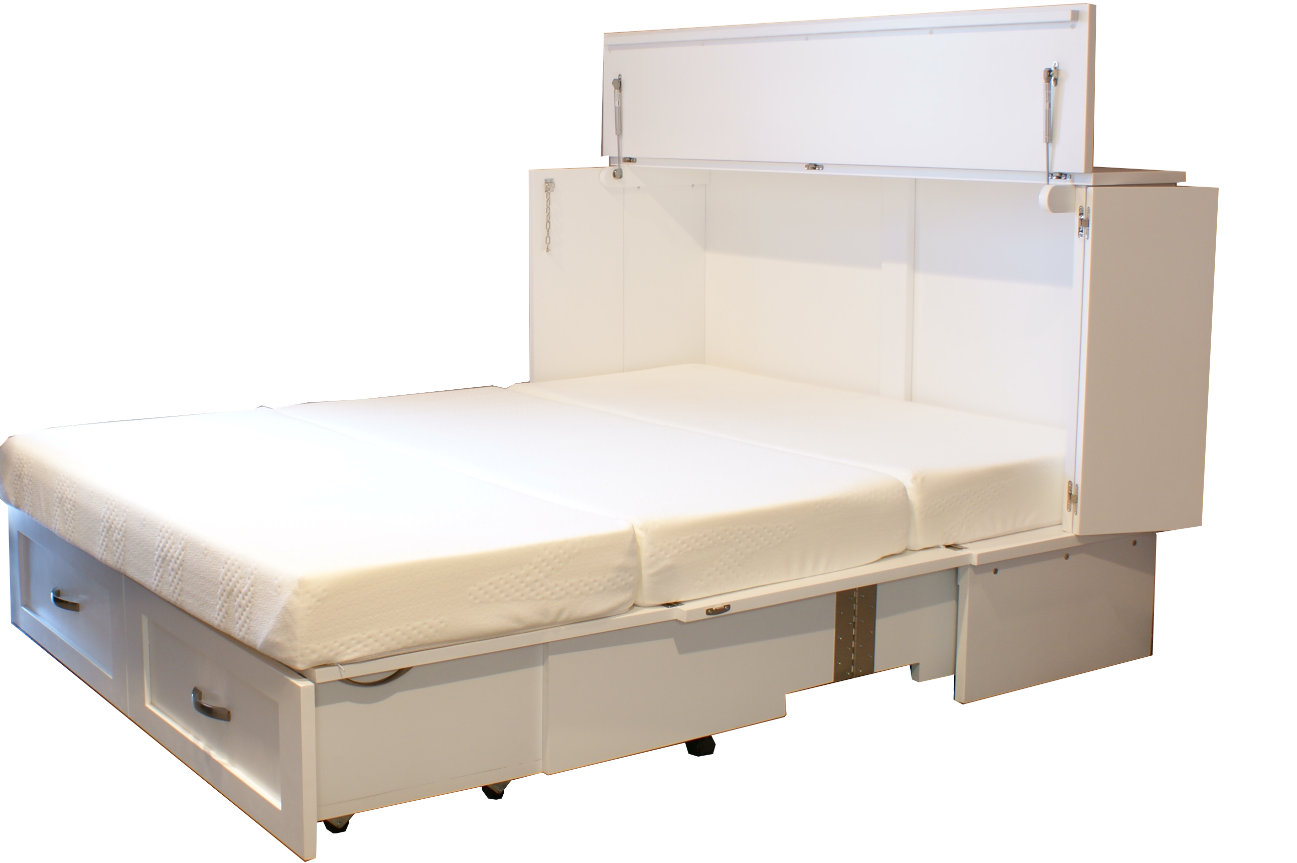 Opens up to either a Double or Queen Size Bed.Canadian