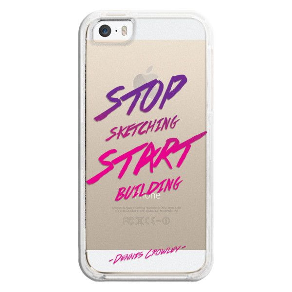 Stop Sketching. Start Building - iPhone 6s Case,iPhone 6 Case,iPhone... ($35) ❤ liked on Polyvore featuring accessories, tech accessories, iphone case, clear iphone cases, apple iphone cases, iphone cases and iphone cover case