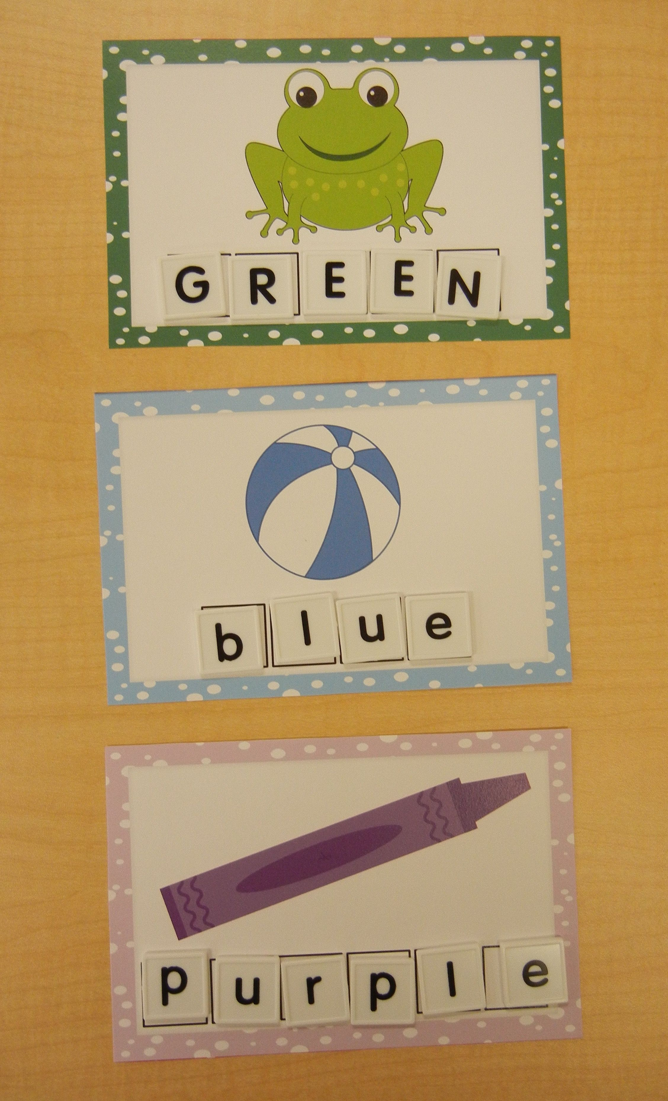 Colors Word Cards