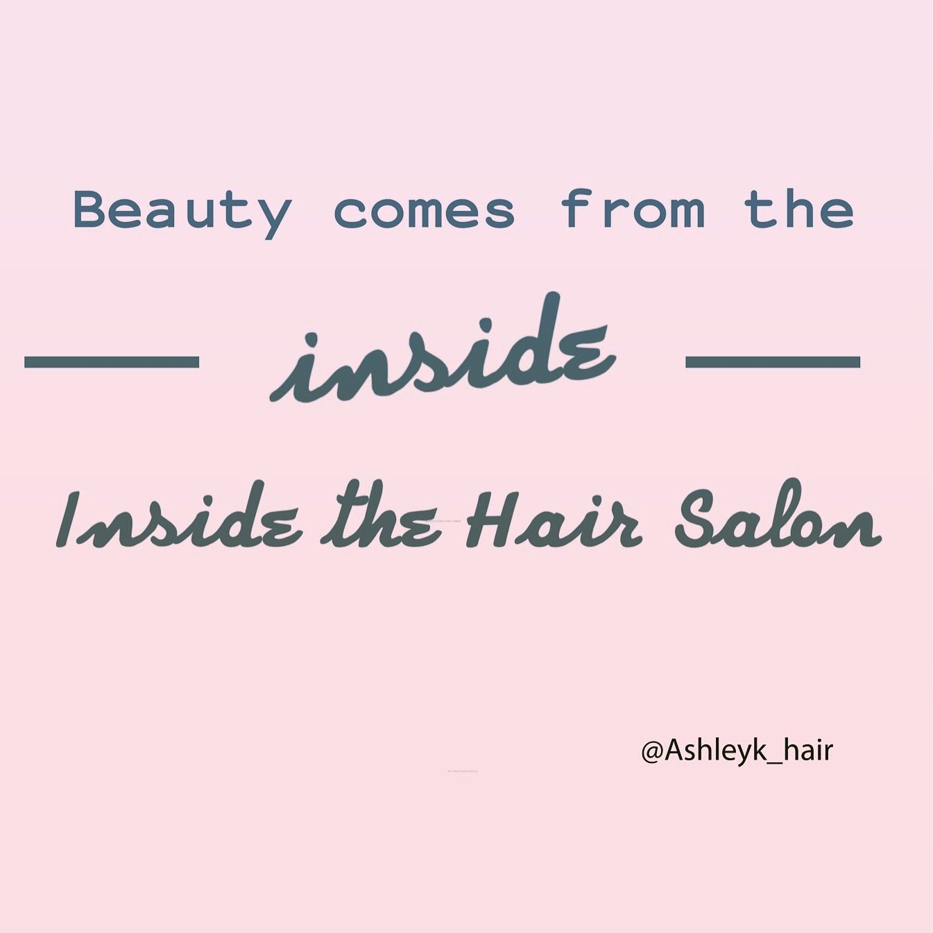 Beauty comes from inside the hair salon - Too cute #hair