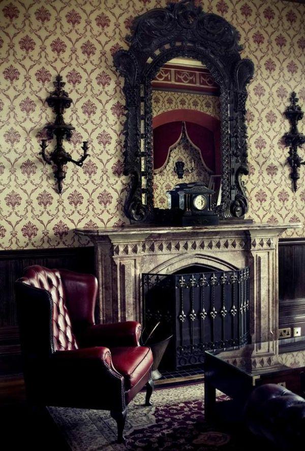elegante-ausstattung-gothic-zimmer Zimmer Pinterest Aktuelle - wandgestaltung gothic