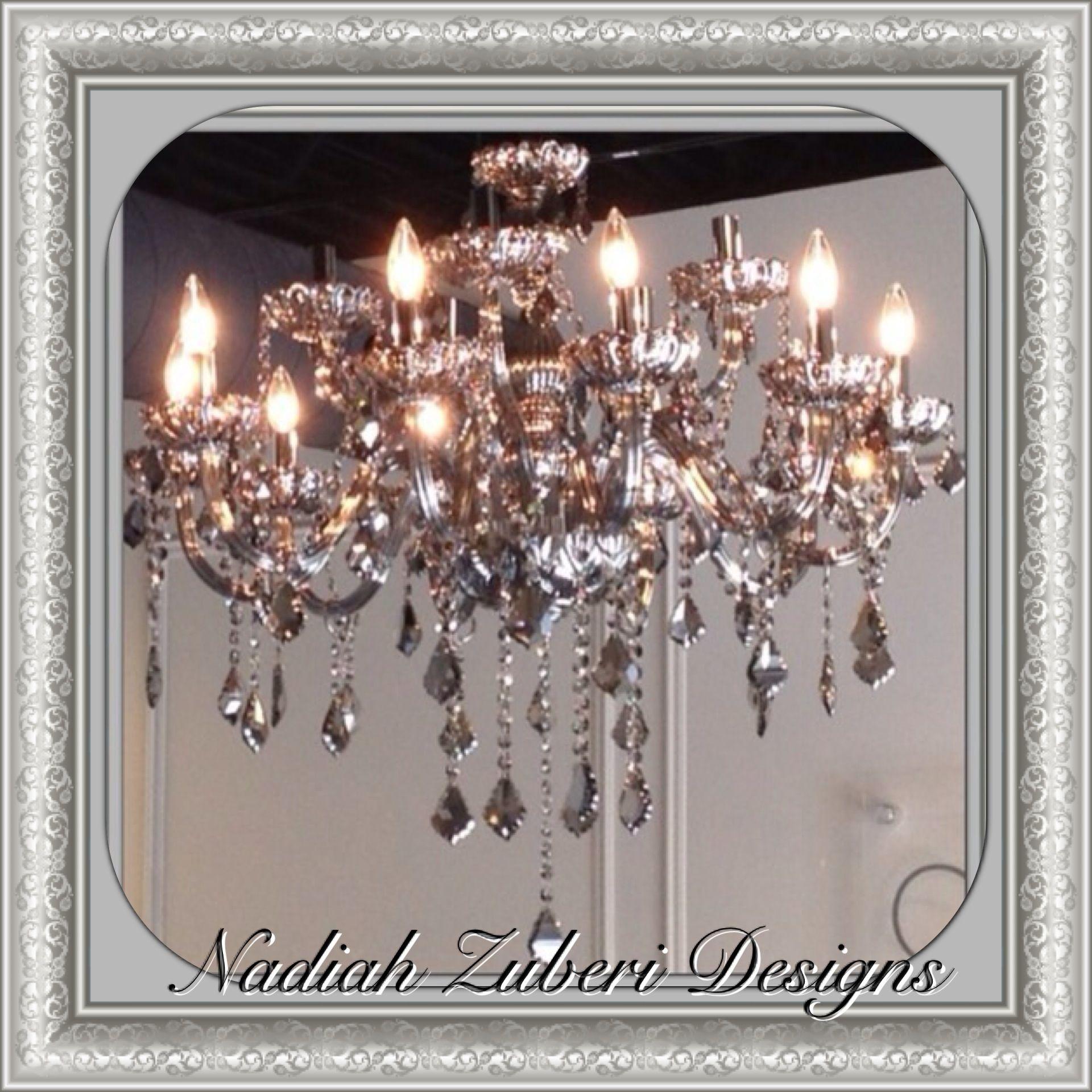 Smoked grey crystal chandelier nadiah zuberi designs montreal smoked grey crystal chandelier nadiah zuberi designs montreal mozeypictures Gallery