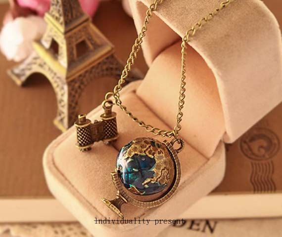 Globe necklace restoring ancient ways by Individualitypresent, $8.99