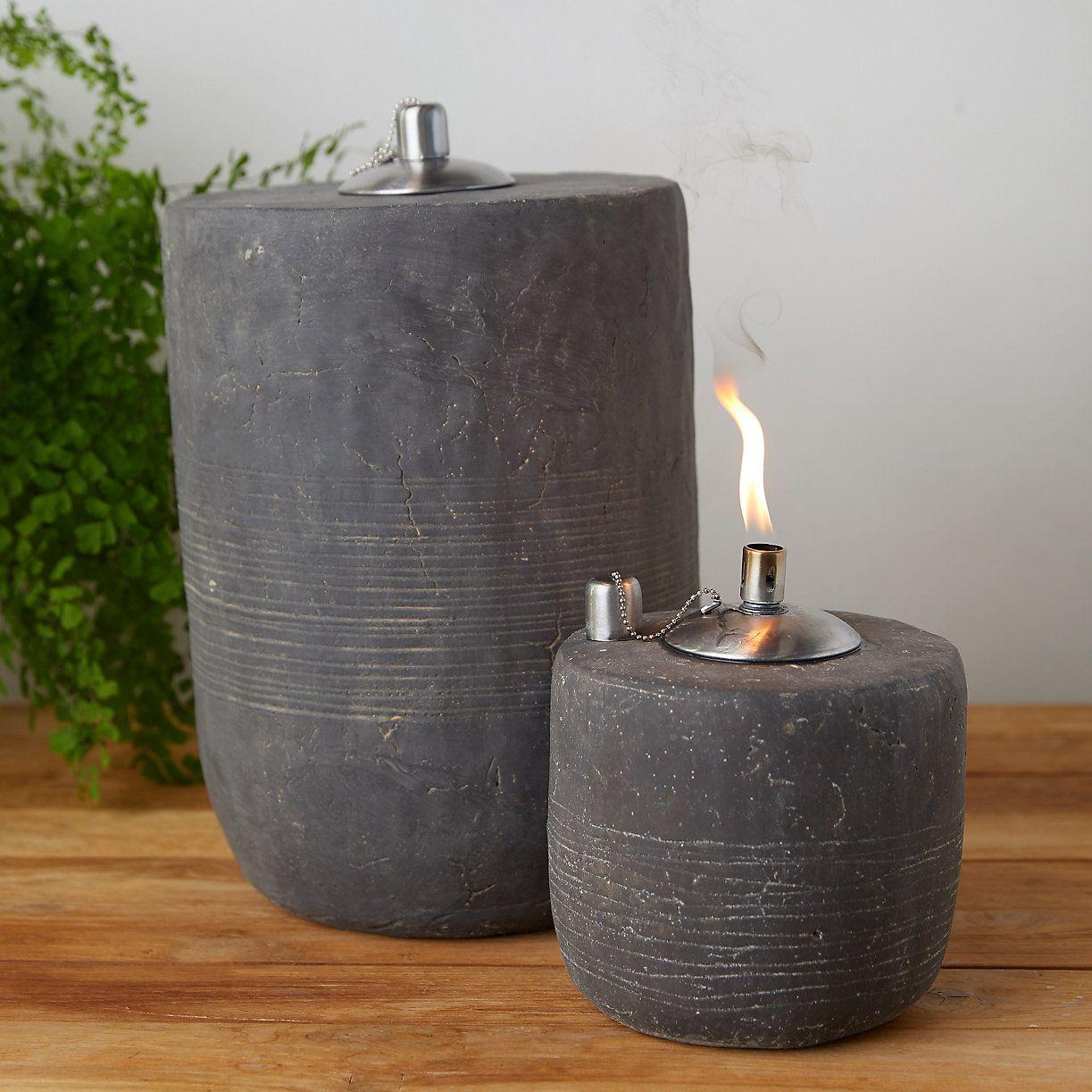Fiber Concrete Oil Burner Oil burners, Citronella oil