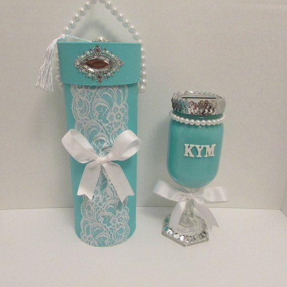 Will you be my bridesmaid gift wine box wine glass gift for Glass boxes for crafts