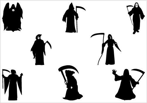 Grim Reaper Silhouette Vector Download Halloween Vectors Silhouette Vector Halloween Vector Halloween Silhouettes
