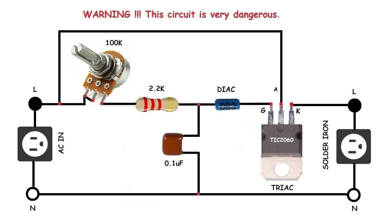 solder iron controller light dimmer ac motor speed controller  [ 1280 x 720 Pixel ]