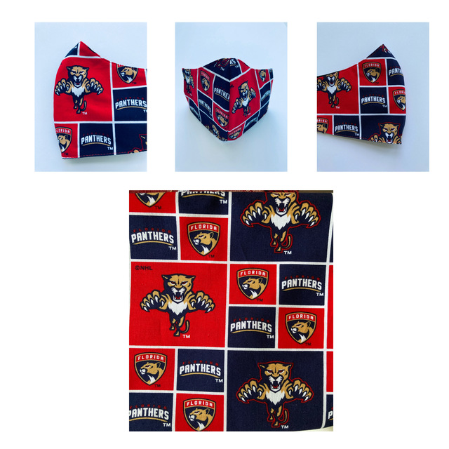 Florida Panthers Washable Reusable Face Mask Cup Shape In 2020 Florida Panthers Panthers Washable