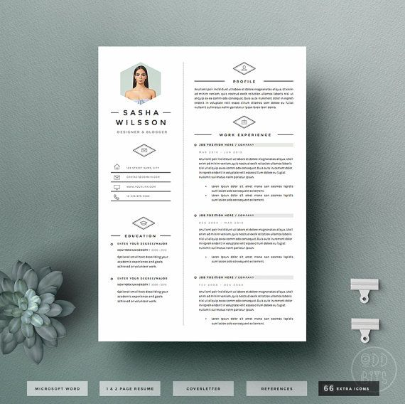 4page resume template cv template pack cover letter for word icon pack - Digital Resume