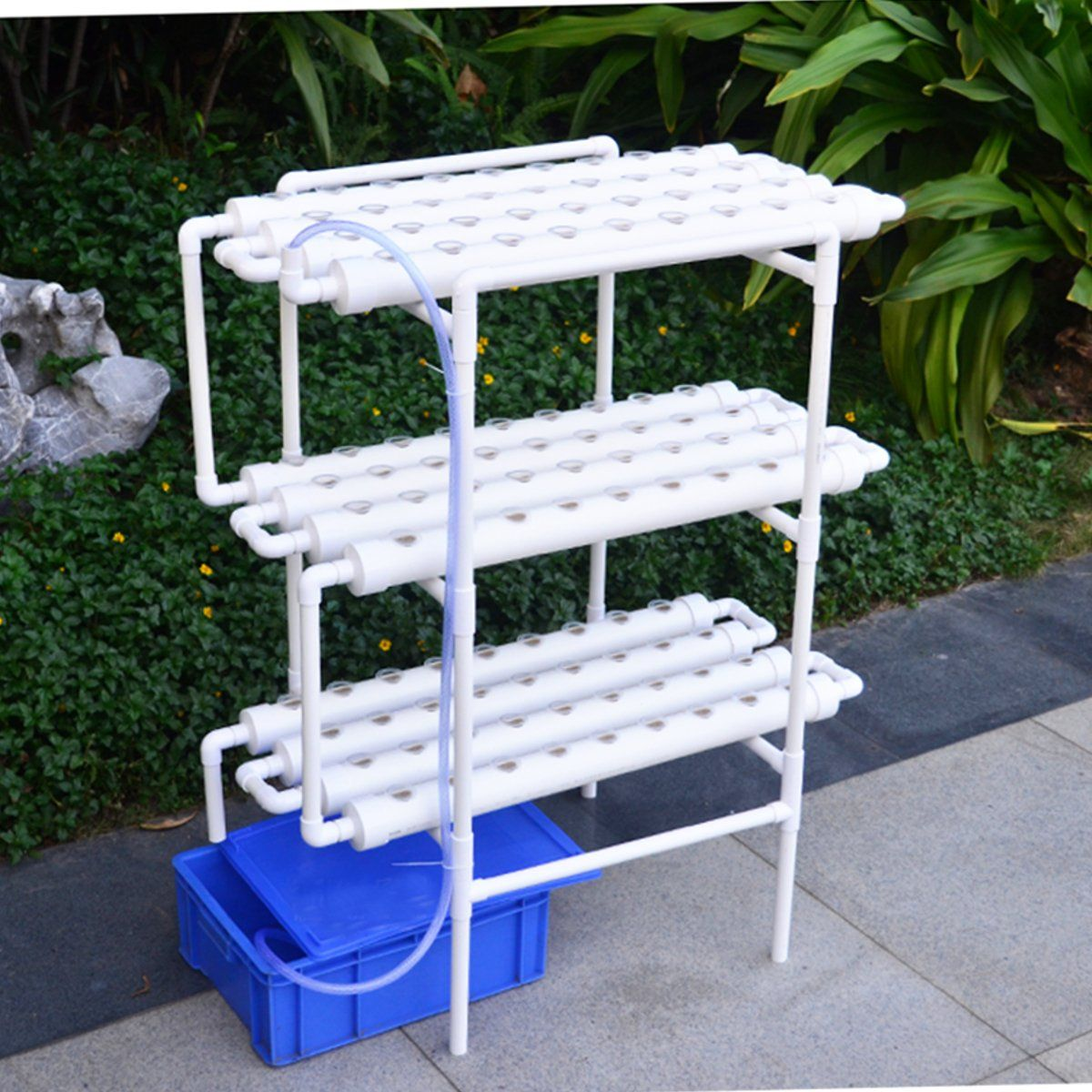 Hydroponic Grow Kit 108 Sites 12 Pipes 3 Layers Garden Plant Vegetable Planting Water Culture System Hydroponic Grow Kits Garden Plants Vegetable Hydroponics System