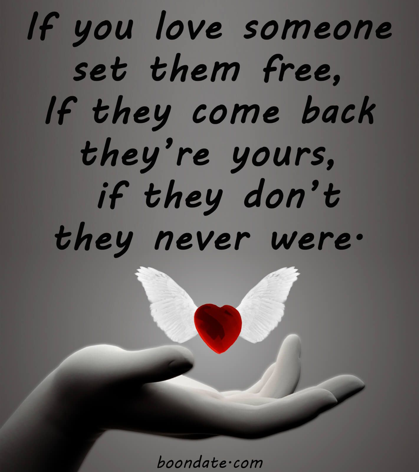 If you love someone set them free - Love Quotes  Free love quotes