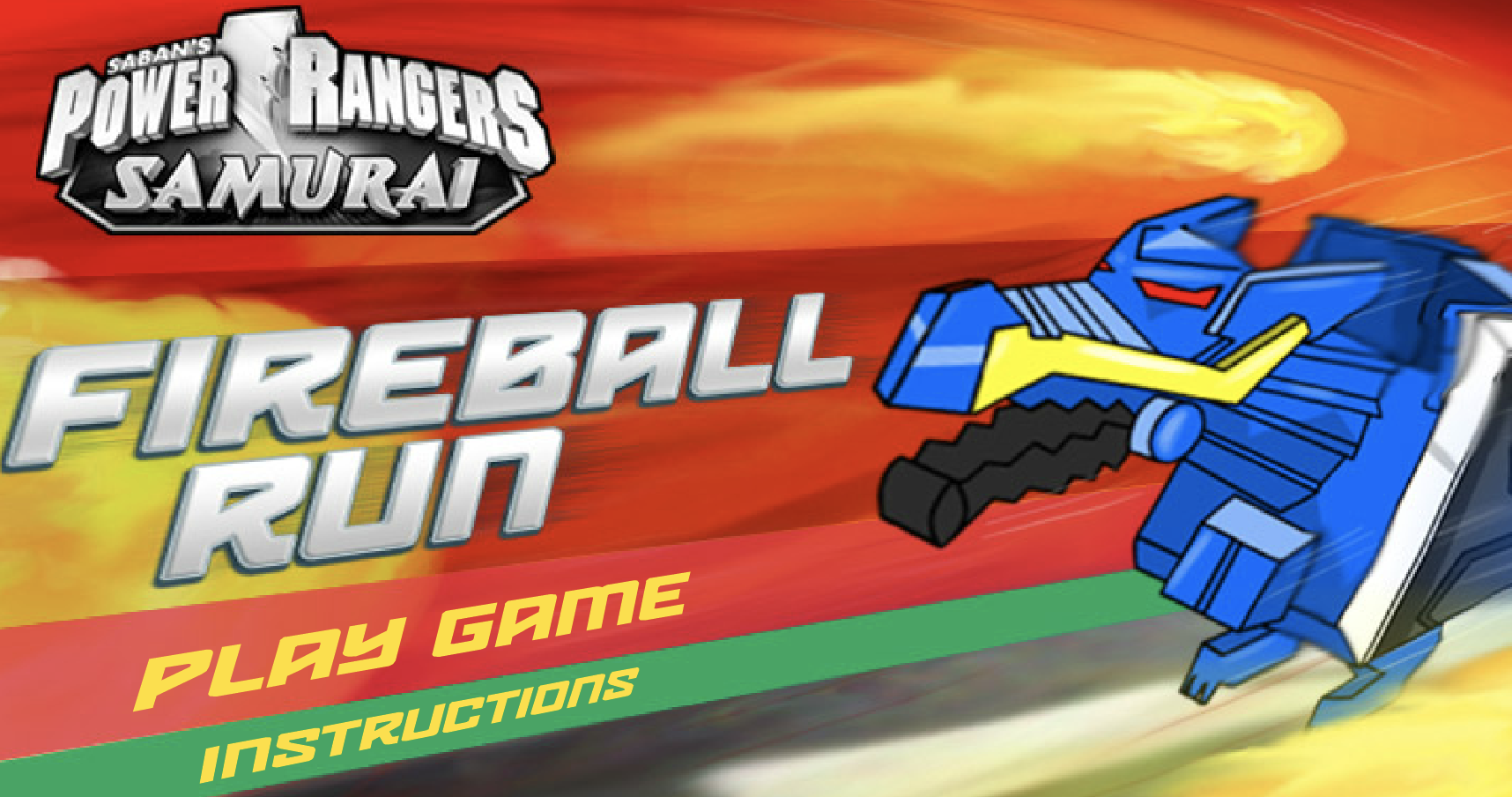 Play Power Rangers Fireball Run Game in