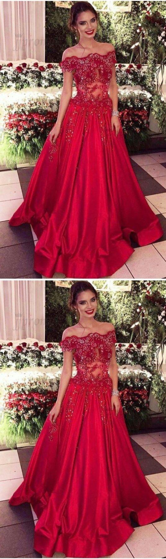 Red prom dressesaline prom dresseslong red prom dressesbeaded
