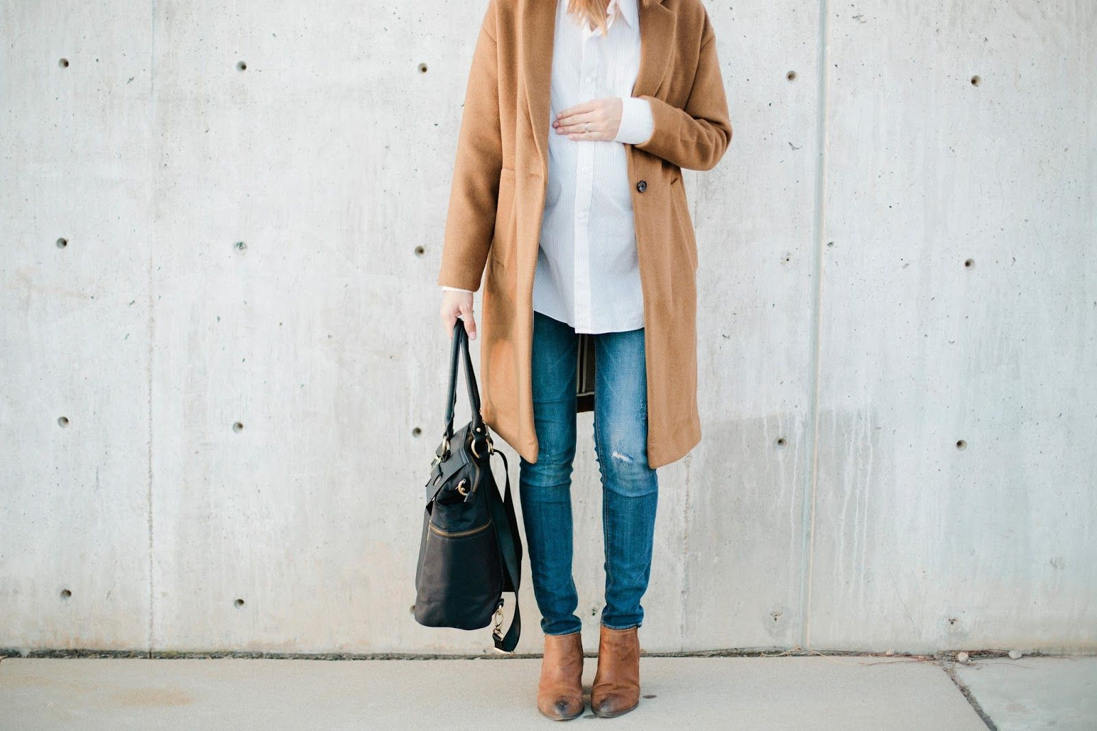 FALL MATERNITY STYLE | 37 WEEKS PREGNANT | MADEWELL, H&M, NEWLIE CO DIAPER BAG, FAMOUS FOOTWEAR