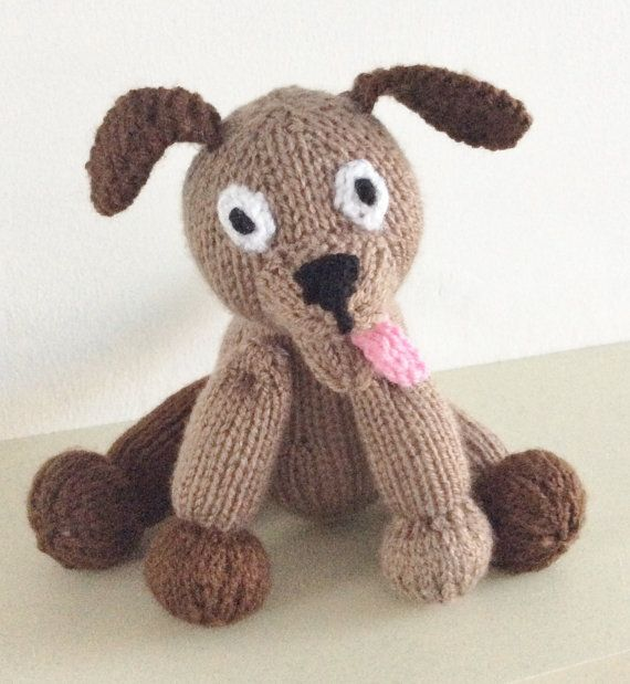Knitting pattern dog toy animal pdf download puppy knit pattern knit ...