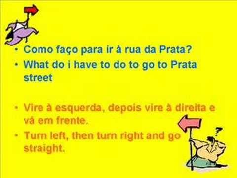 European Portuguese - Lesson 6 - Direcções - Directions