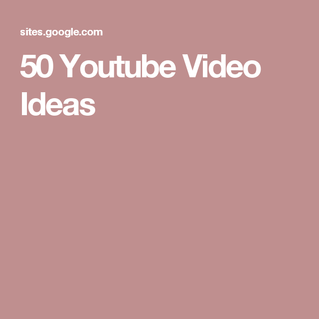 50 youtube video ideas inspirations vid os youtube id e de vid o youtube et astuces. Black Bedroom Furniture Sets. Home Design Ideas