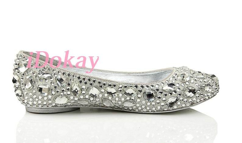 Handmade Ballet Flat Wedding Shoes-Clean Rhinestone diamond Shoes-Bling  Bridal Shoes-Sparkle Swarovski crystals Shoes-Customize Shoes.  85.00 6072395903