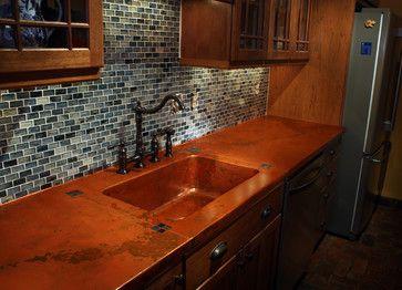 Concrete Counter Tops Richmond Va Copper Countertop Mediterranean Kitchen