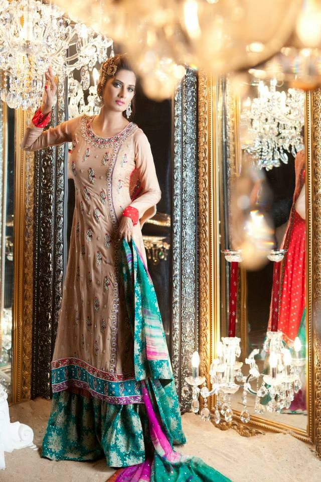 Embellished by Sadaf Amir Latest Party Dress 2014...Here is ...